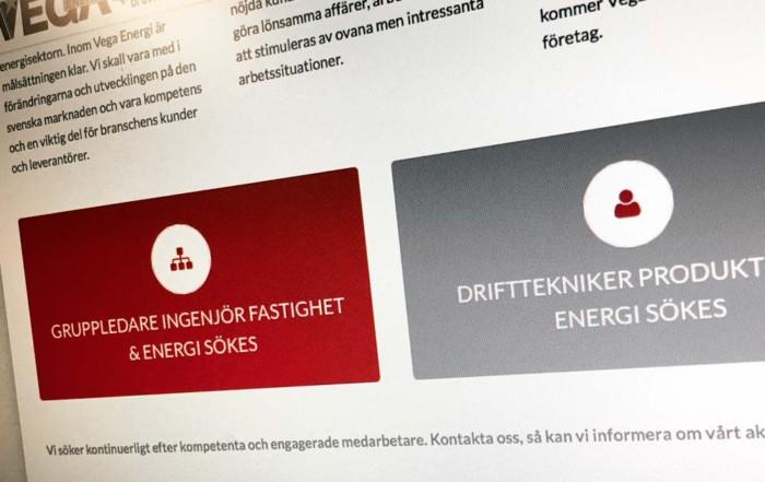 Vega Energi Rekryteringskampanj