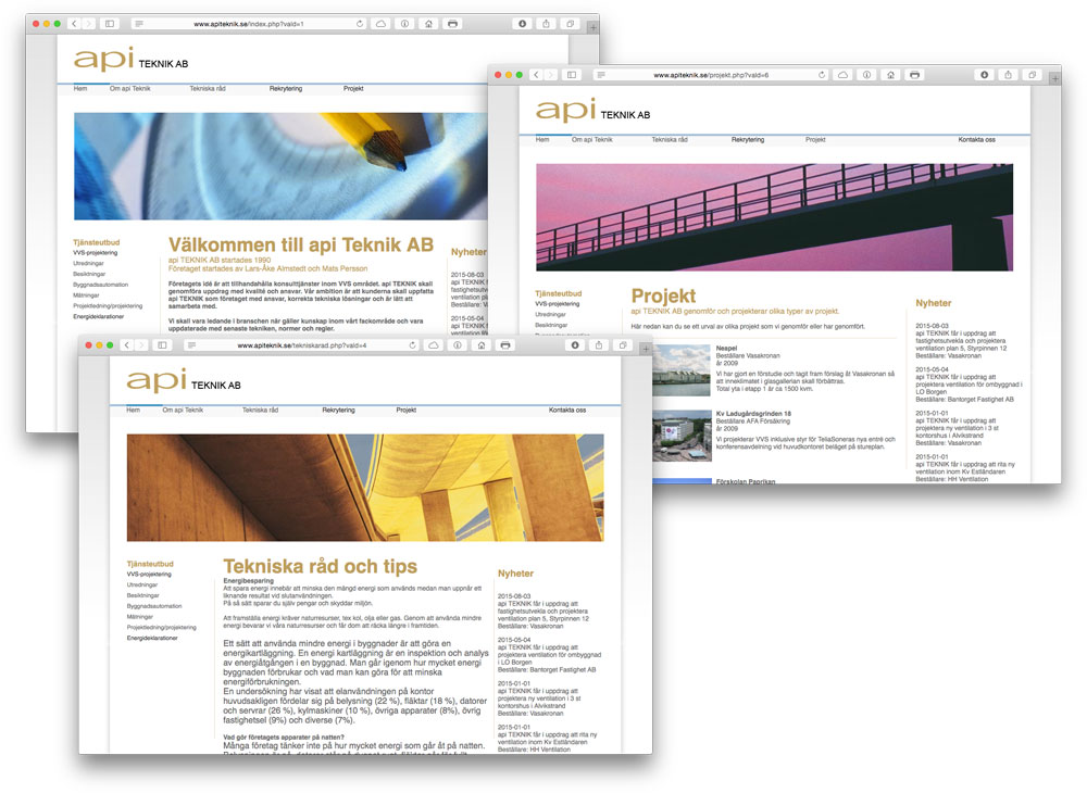 API Teknik Webb