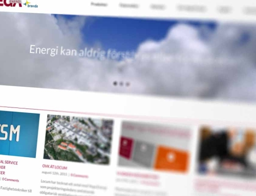 Uppdatering av Vega Energis webbplats