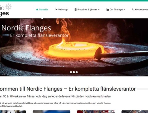 Vi skapar ny webbplats till Nordic Flanges AB