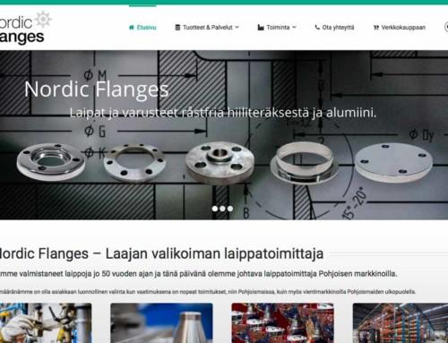 Vi skapar finsk webbplats till Nordic Flanges AB