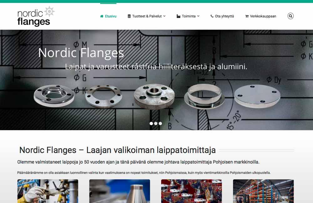 Nordic Flanges finsk webb