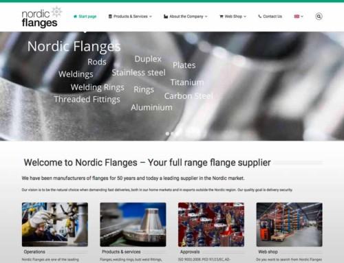 Vi skapar engelsk webbplats till Nordic Flanges AB
