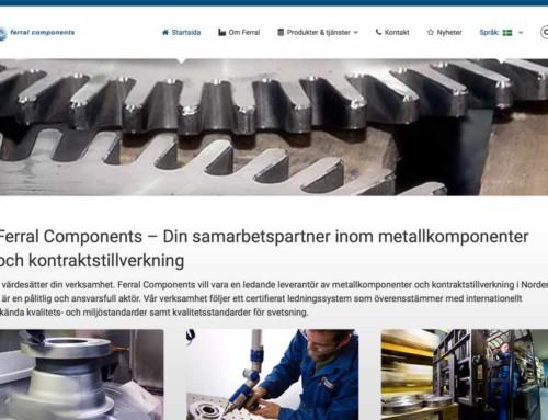 Vi gör ny webbplats åt Ferral Components OY
