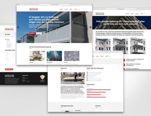 Vi har byggt en ny webbplats åt Norrlands Balkongmontage AB