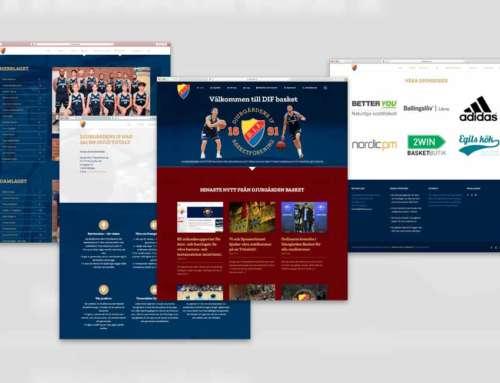 Vi bygger en ny webbplats åt DIF Basket
